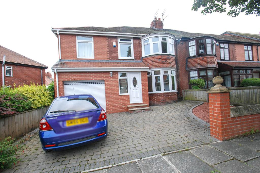 4 Bedrooms Semi Detached House for sale in Kingsway, South Shields