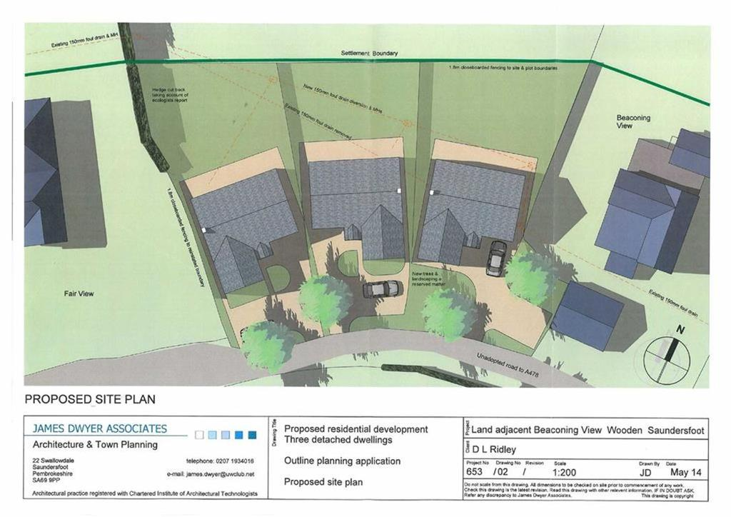 Land Commercial for sale in Building Plot 3, Adjoining Beaconing View, Saundersfoot, Dyfed, SA69