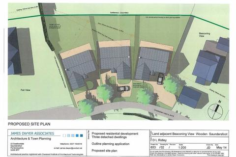 Land for sale - Building Plot 3, Adjoining Beaconing View, Saundersfoot, Dyfed, SA69