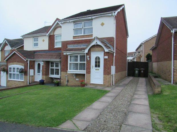 2 Bedrooms Semi Detached House for sale in TEMPLETON CLOSE, HIGHFIELDS, HARTLEPOOL