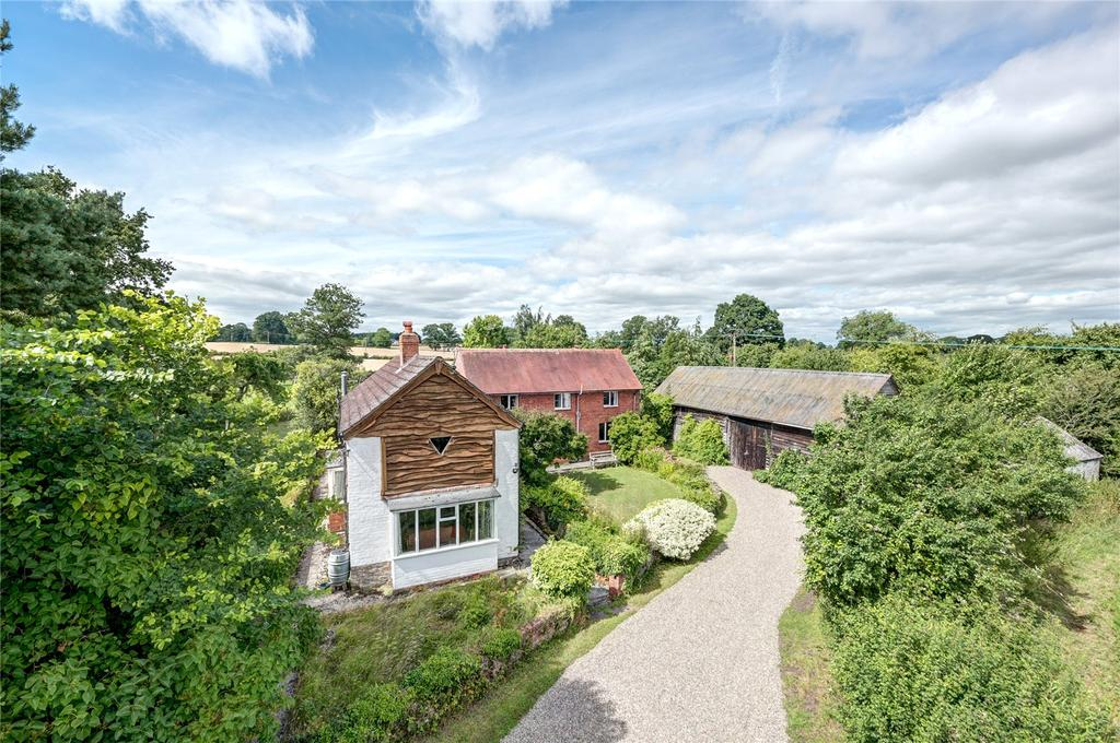 4 Bedrooms Detached House for sale in Lower Hardwick, Pembridge, Leominster, Herefordshire