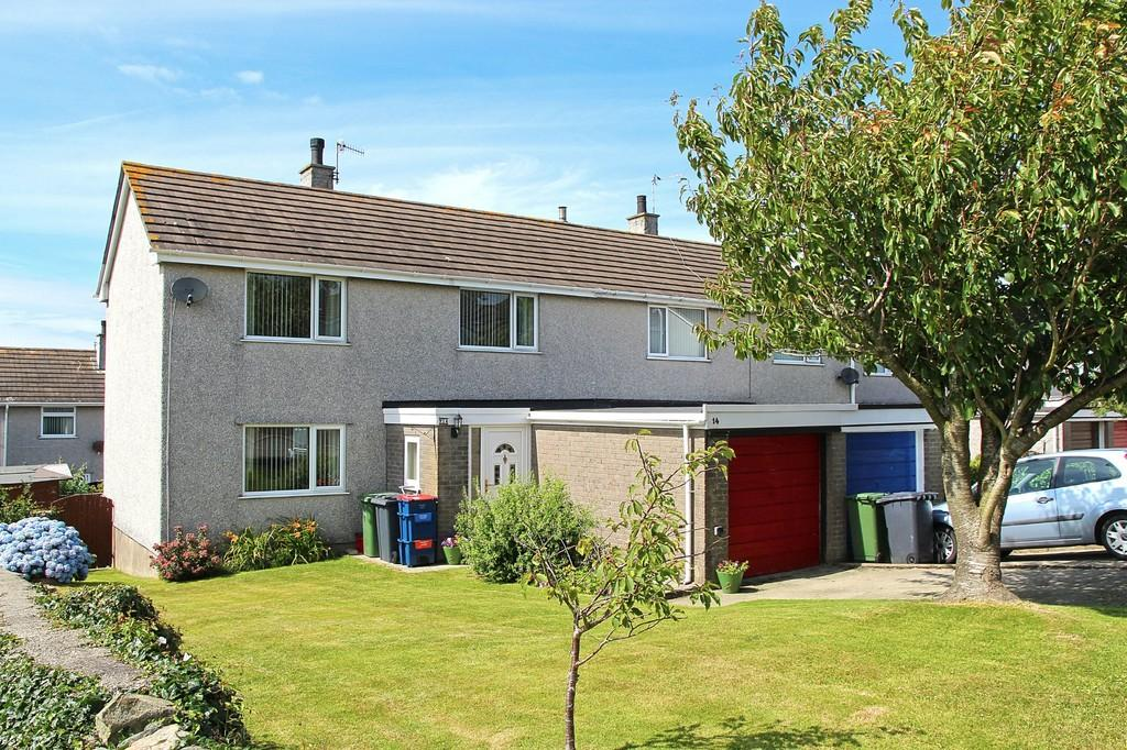 3 Bedrooms Semi Detached House for sale in Stad Glanrafon, Llanfechell, North Wales