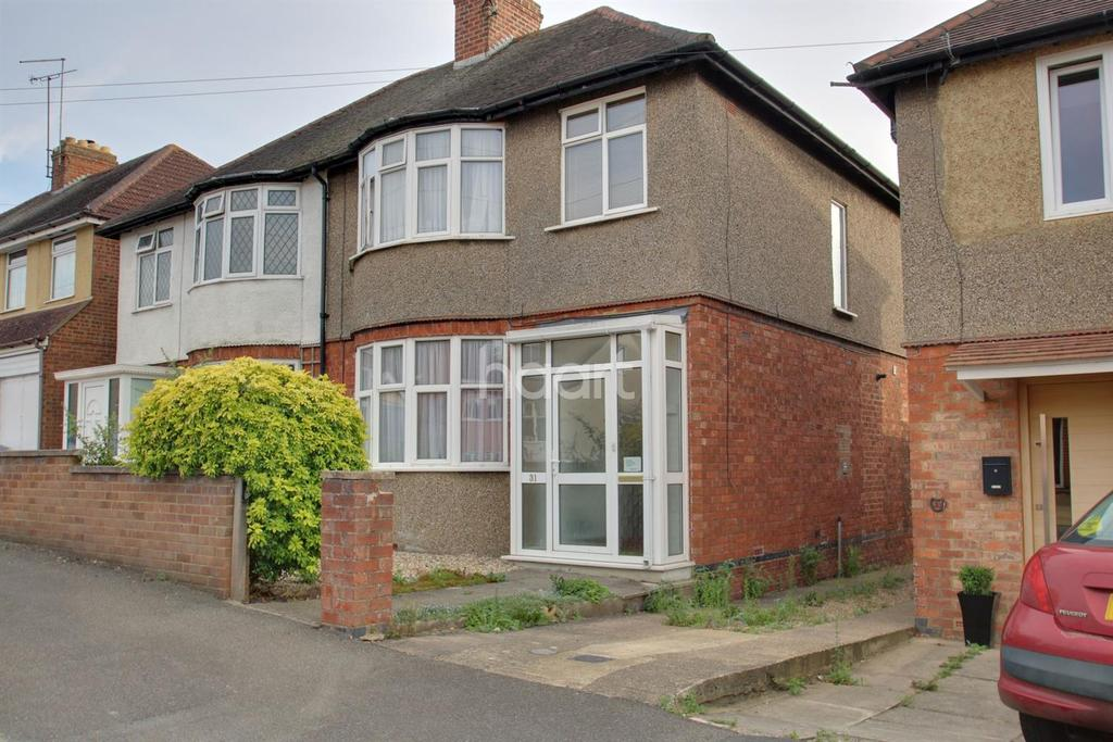 3 Bedrooms Semi Detached House for sale in Whiteland Road, The Headlands, Northampton