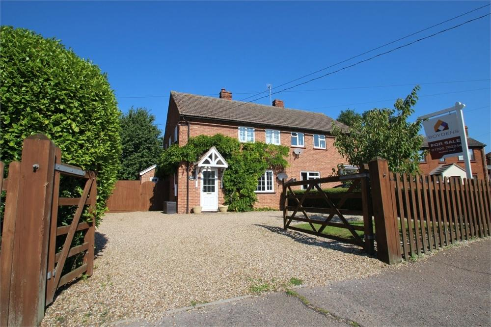 3 Bedrooms Semi Detached House for sale in Ramparts Cottages, Coach Road, Great Horkesley, COLCHESTER, Essex
