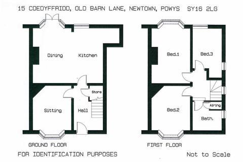 3 bedroom end of terrace house for sale - 15, Coedyffridd, Old Barn Lane, Newtown, Powys, SY16