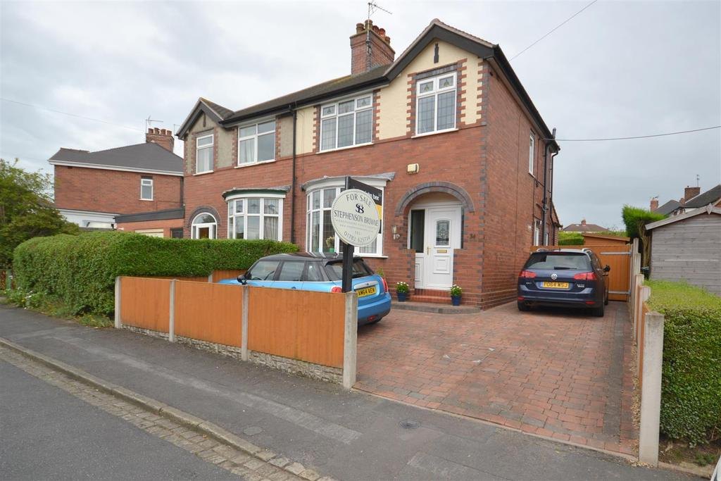 3 Bedrooms Semi Detached House for sale in Ashcroft Road, Porthill, Newcastle