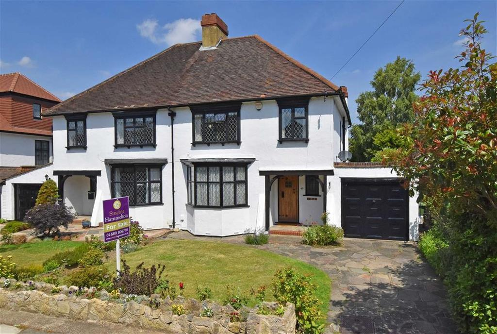 3 Bedrooms Semi Detached House for sale in Greencourt Road, Petts Wood, Kent
