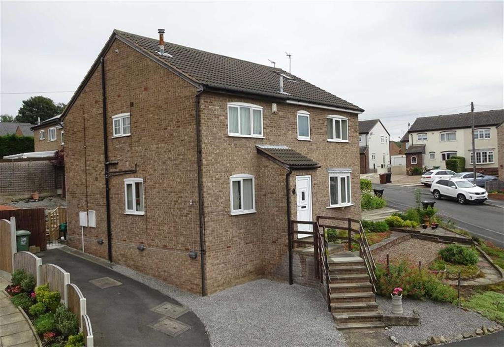 2 Bedrooms Semi Detached House for sale in Greenfield Avenue, Kippax, Leeds, LS25
