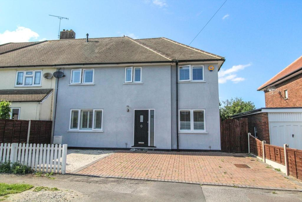 4 Bedrooms Semi Detached House for sale in Osborne Road, Pilgrims Hatch, Brentwood, Essex, CM15