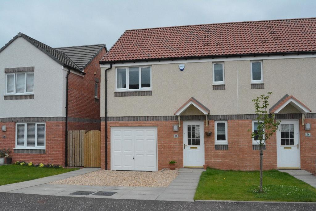 3 Bedrooms Semi Detached House for sale in Rankin Drive, Larbert, Falkirk , FK2 8RF