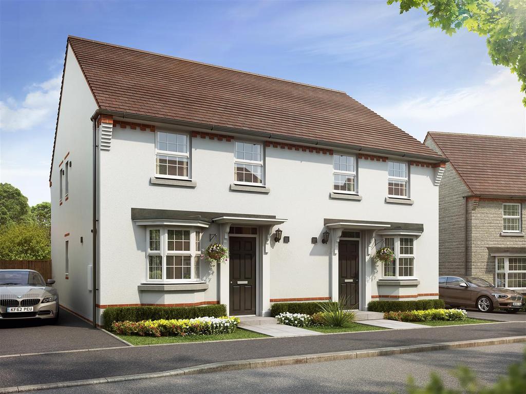 3 Bedrooms Semi Detached House for sale in Plot 23, Oakfield, Saxon Fields, Cullompton