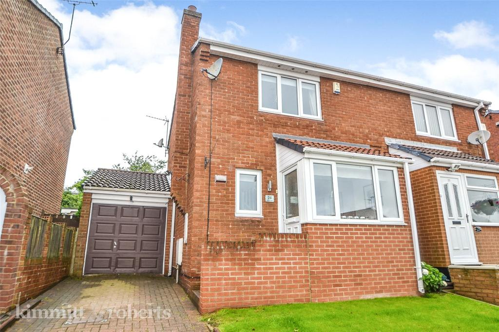 2 Bedrooms Semi Detached House for sale in Dilston Close, Peterlee, Co Durham, SR8