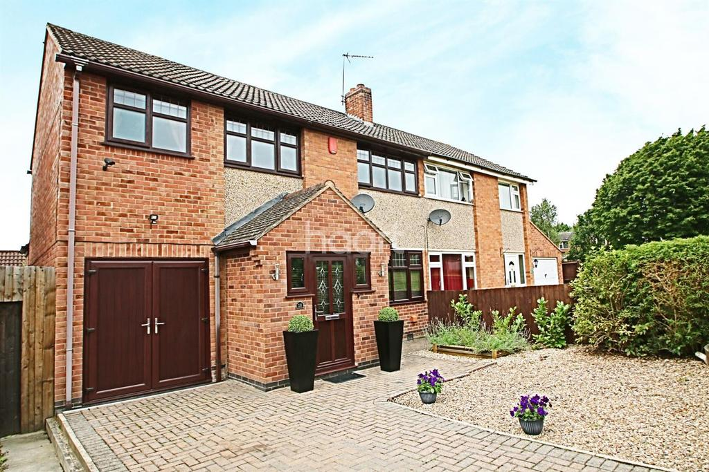 4 Bedrooms Semi Detached House for sale in Broadbent Close, Whetstone, Leicestershire