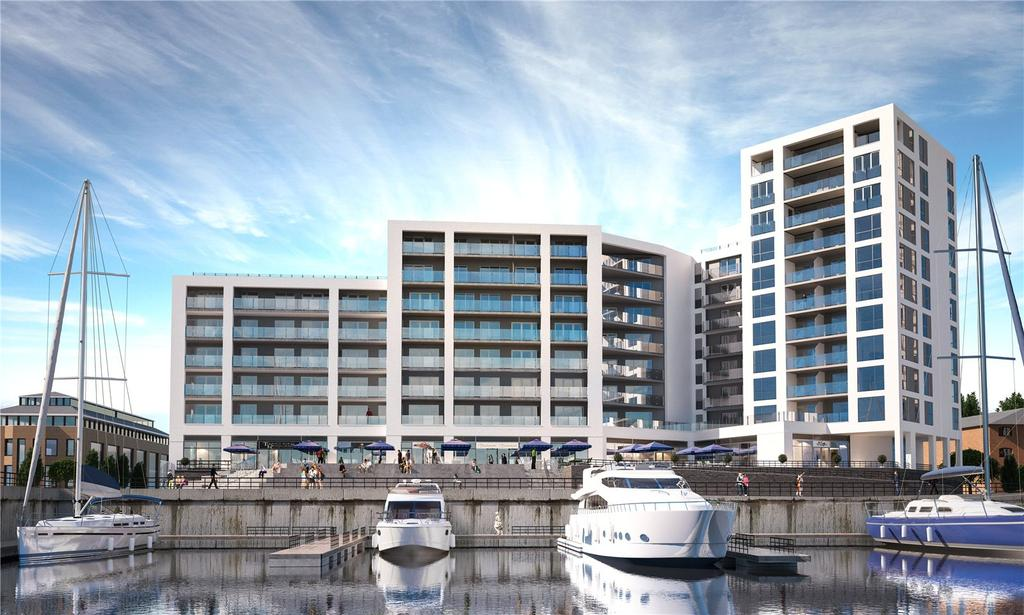 2 Bedrooms Flat for sale in Maritime Walk, Ocean Village, Southampton, SO14