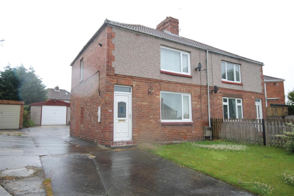 2 Bedrooms Semi Detached House for sale in Moorside Crescent, Fishburn, Stockton-On-Tees