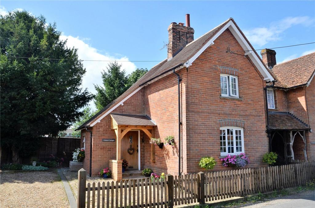 3 Bedrooms Semi Detached House for sale in School Cottages, Cock Lane, Bradfield Southend, Reading, RG7