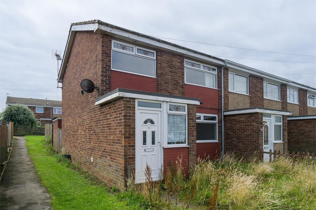 3 Bedrooms End Of Terrace House for sale in Whitethorne Avenue, Withernsea, East Riding of Yorkshire