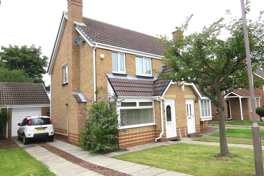 3 Bedrooms Semi Detached House for sale in Mendip Close, Wansbeck Manor, Ashington