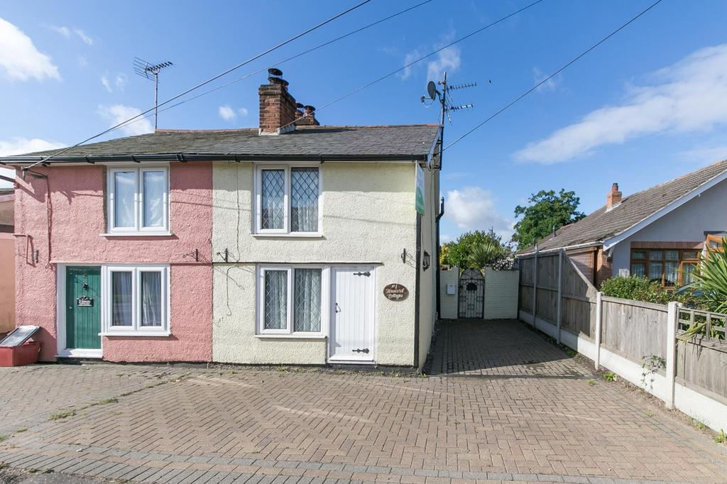 2 Bedrooms Semi Detached House for sale in Howard Cottages, Clacton Road, Thorrington, Colchester, Essex, CO7
