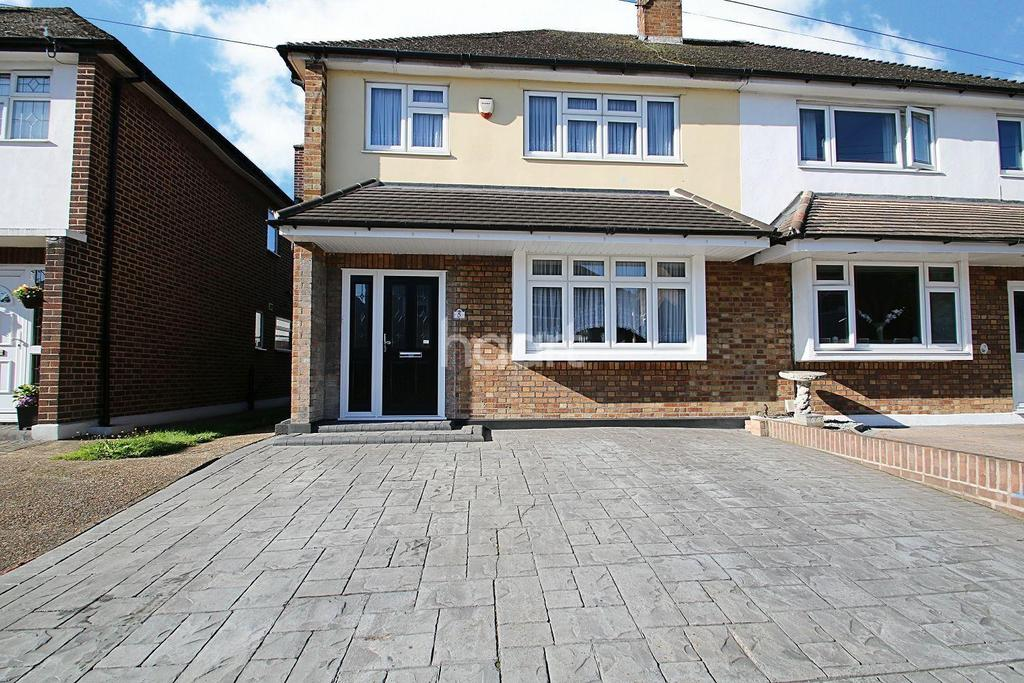 3 Bedrooms Semi Detached House for sale in Oxley Close, Gidea Park