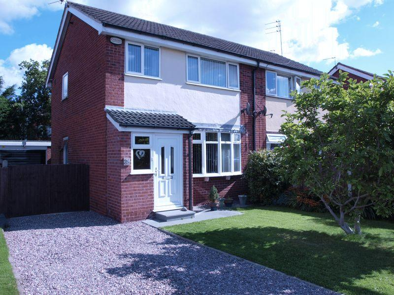 3 Bedrooms Semi Detached House for sale in Shelley Avenue, Wincham, CW9 6PH