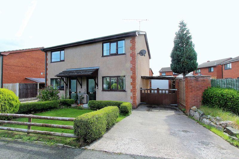 2 Bedrooms Semi Detached House for sale in Bro Clywedog, Ruthin