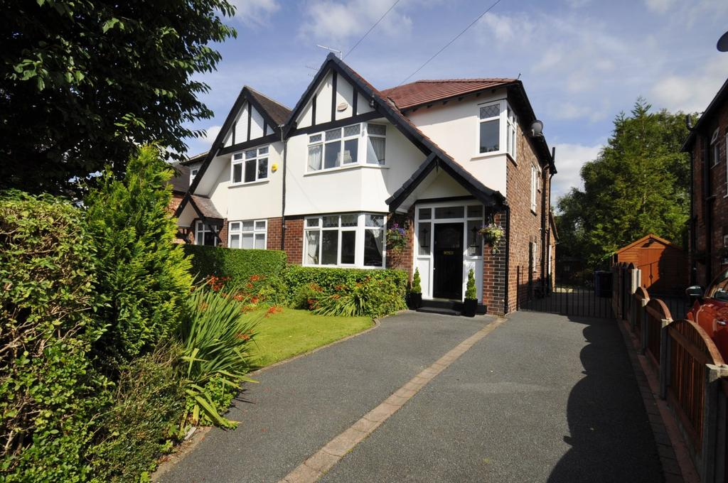 3 Bedrooms Semi Detached House for sale in Earle Road, Bramhall,