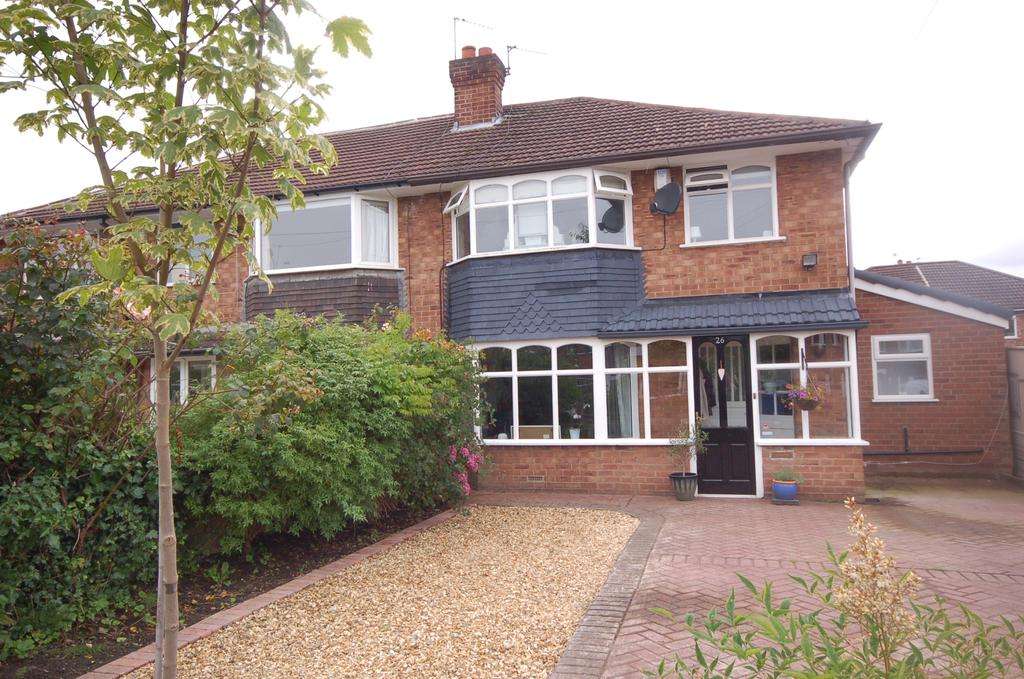 3 Bedrooms Semi Detached House for sale in Cornwall Road, Heald Green, Cheadle, Cheshire SK8