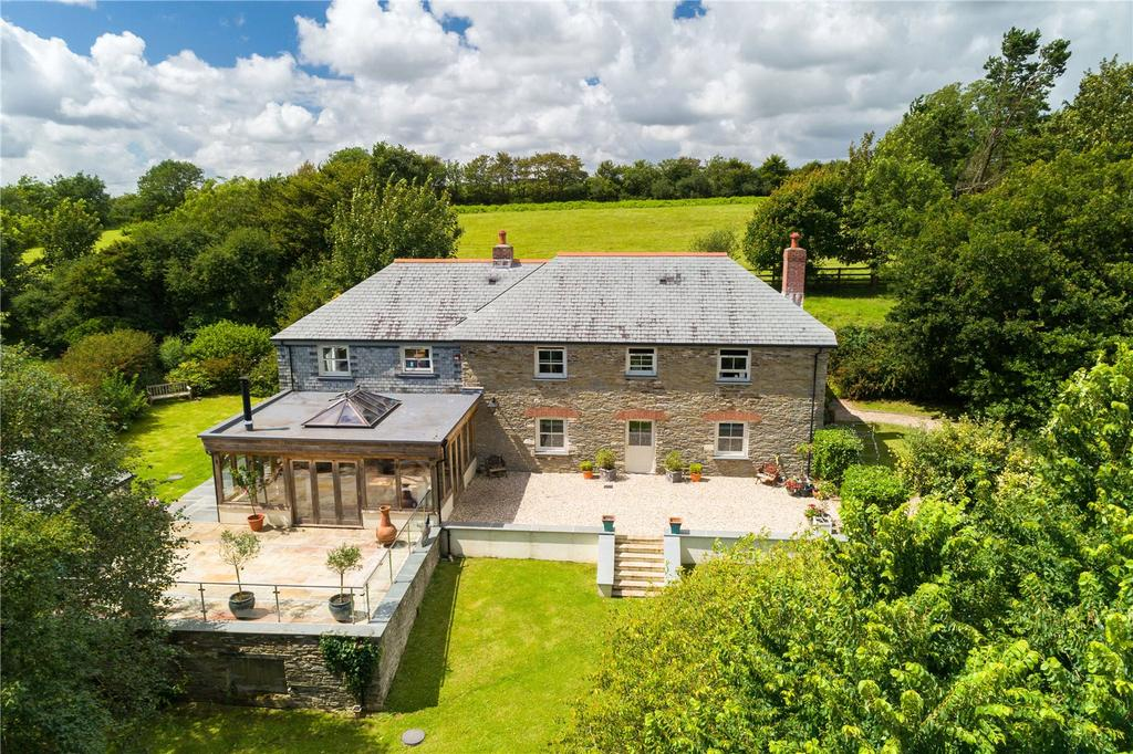 4 Bedrooms Detached House for sale in Near Tregony, The Roseland, South Cornwall, TR2