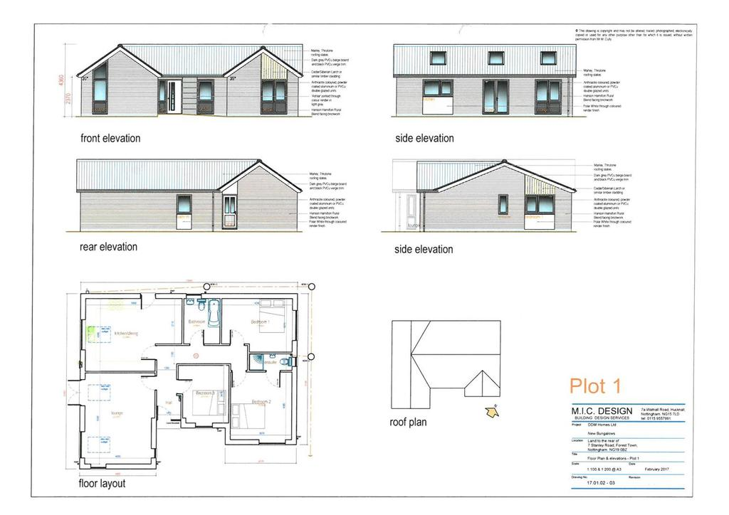 3 Bedrooms Detached Bungalow for sale in Plot 1 Stanley Road, Forest Town