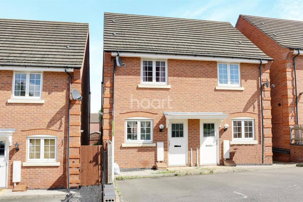 2 Bedrooms Semi Detached House for sale in Spinners Way, Shepshed