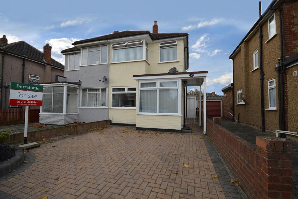 3 Bedrooms Semi Detached House for sale in Arbour Way, Hornchurch, Essex, RM12
