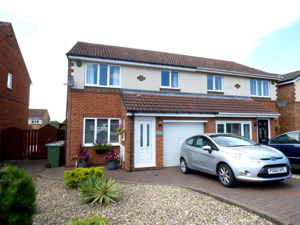 3 Bedrooms Semi Detached House for sale in Okehampton Drive, Newbottle, Houghton-Le-Spring