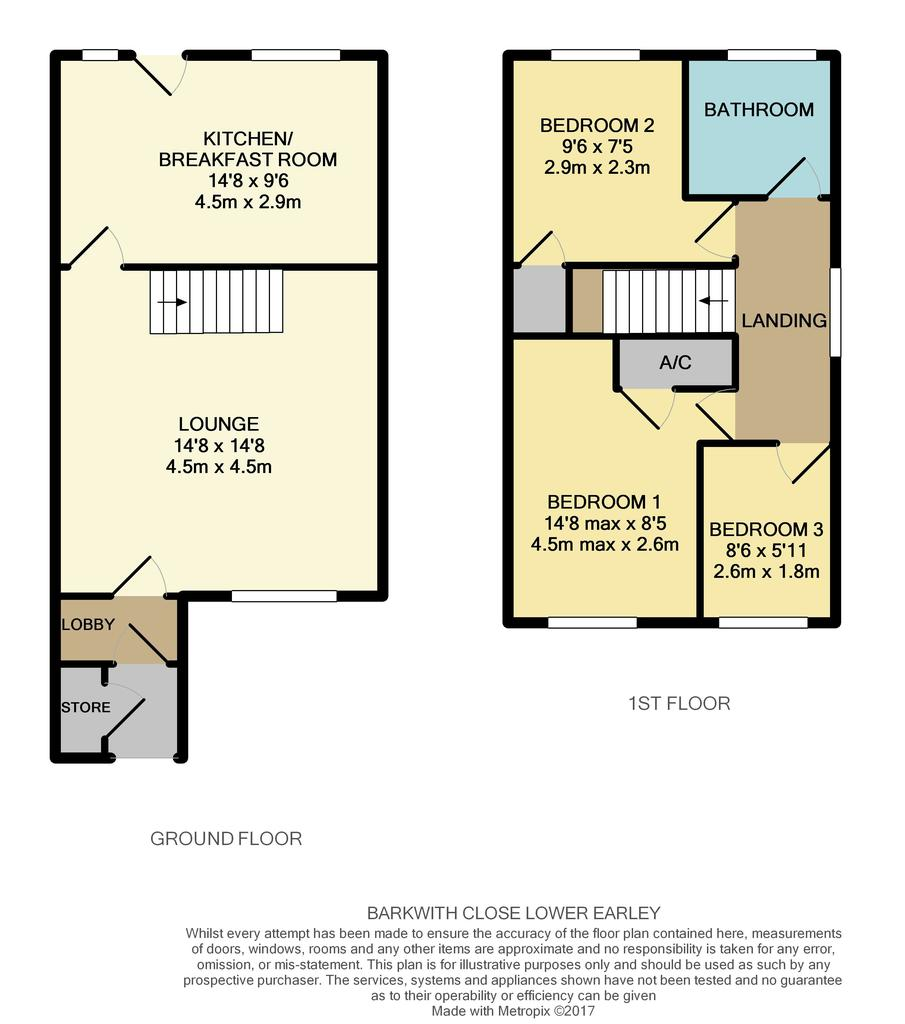 Barkwith close lower earley reading 3 bed semi detached for Reading a floor plan