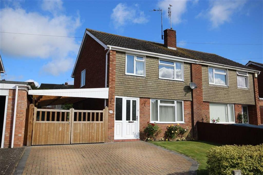 3 Bedrooms Semi Detached House for sale in Derwent Drive, Mitton, Tewkesbury, Gloucestershire