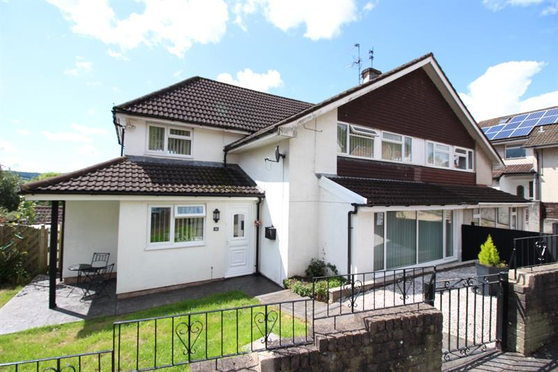 4 Bedrooms Semi Detached House for sale in Tor View, Bedwas, Caerphilly