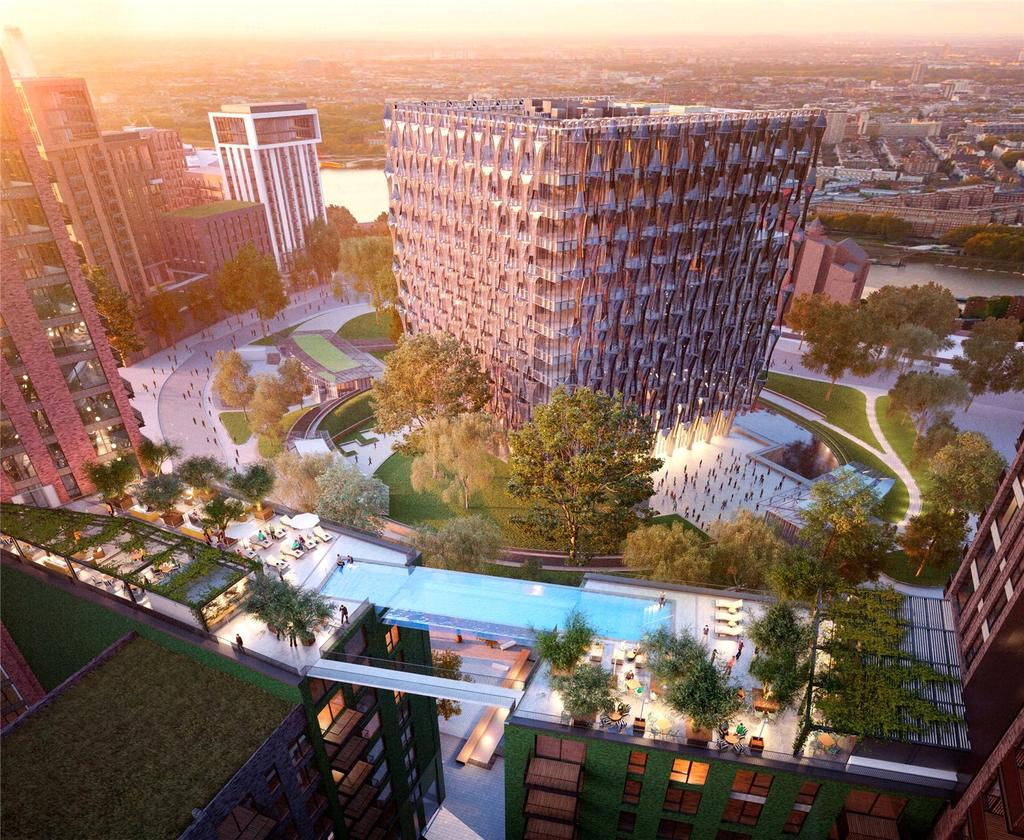 Flat for sale in Embassy Gardens, Ponton Road, Nine Elms, Vauxhall, London, SW8