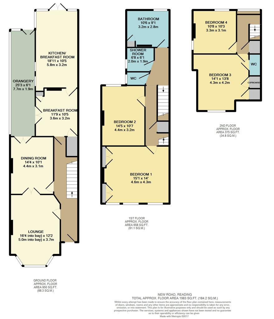 New road reading 4 bed semi detached house 725 000 for Reading a floor plan