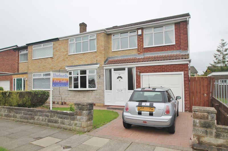 4 Bedrooms Semi Detached House for sale in Clifton Avenue, Billingham