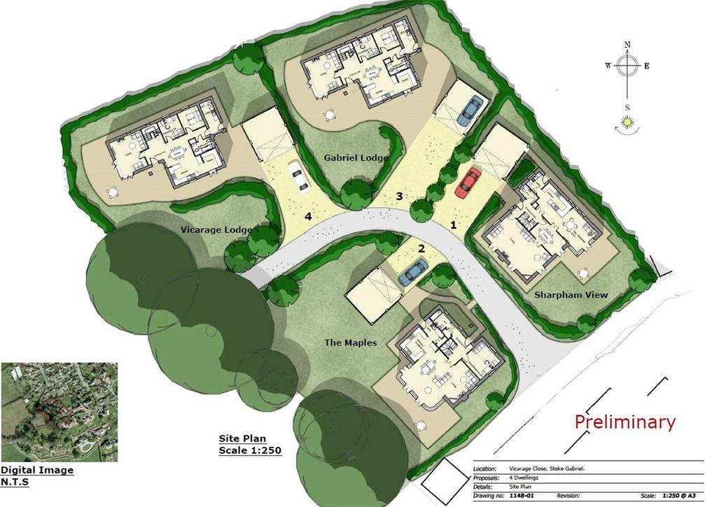 5 Bedrooms Plot Commercial for sale in Vicarage Close, Stoke Gabriel, Totnes, TQ9