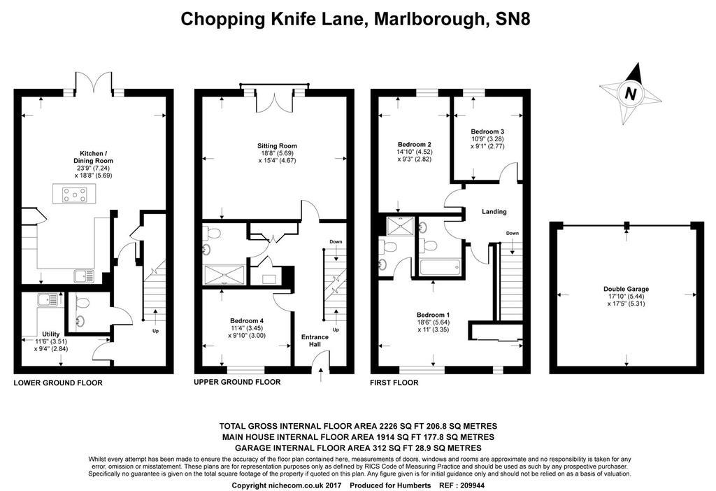 Chopping knife lane marlborough wiltshire 4 bed terraced for Marlborough house floor plan