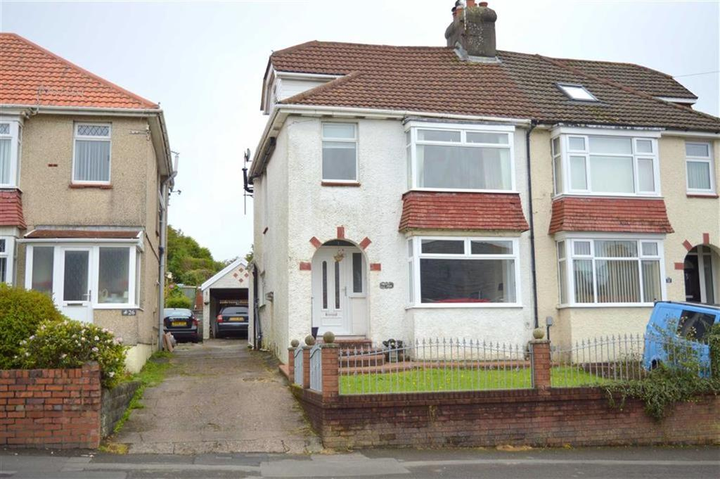 3 Bedrooms Semi Detached House for sale in Goetre Fawr Road, Killay, Swansea
