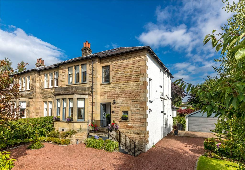 4 Bedrooms Semi Detached House for sale in 34 Colquhoun Drive, Bearsden, Glasgow, G61