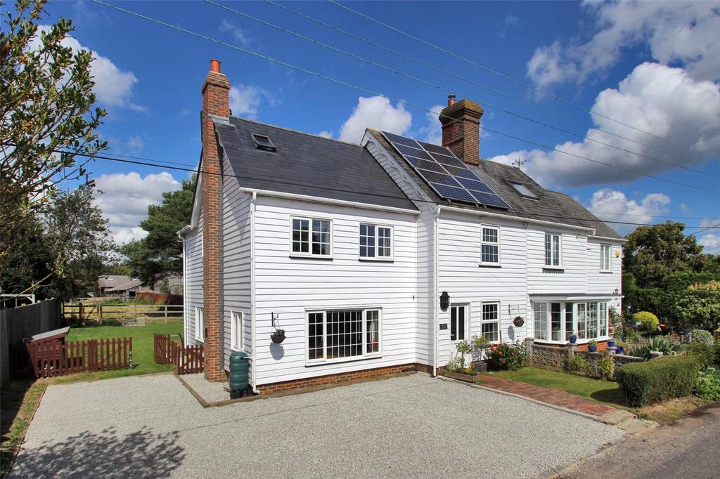 4 Bedrooms Semi Detached House for sale in Spongs Lane, Sissinghurst, Cranbrook, Kent, TN17
