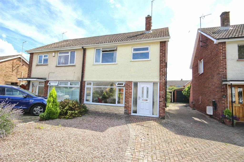 3 Bedrooms Semi Detached House for sale in Caernarvon Road, Hatherley, Cheltenham, GL51