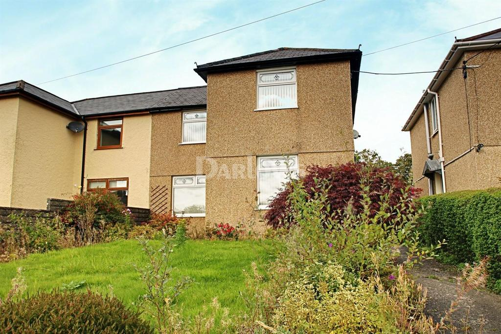 3 Bedrooms Semi Detached House for sale in Maen Gilfach Trelewis