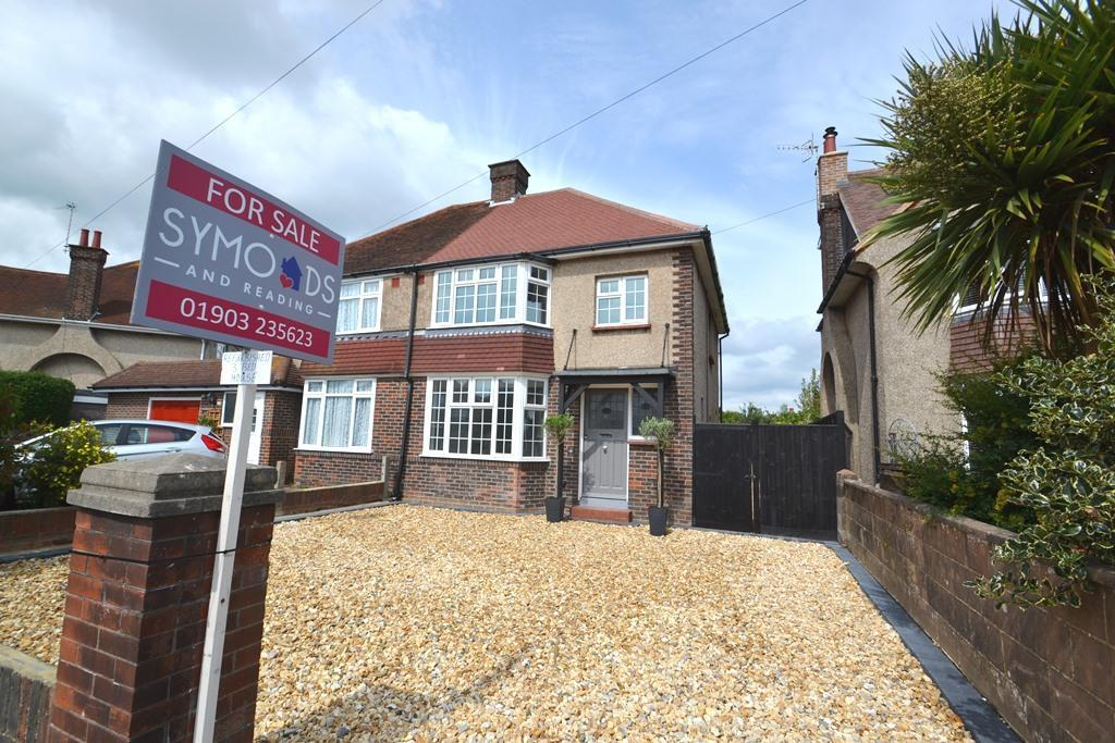 3 Bedrooms Semi Detached House for sale in Terringes Avenue, Worthing, West Sussex, BN13 1HY