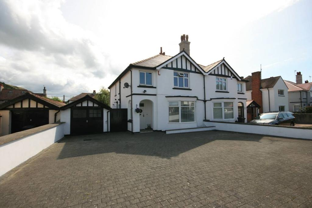 4 Bedrooms Semi Detached House for sale in Rosebery Avenue, Llandudno, LL30 1TF