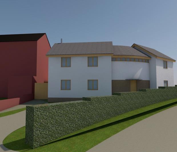 Building plot adj to arran house myddle shrewsbury for Build a house for 75000