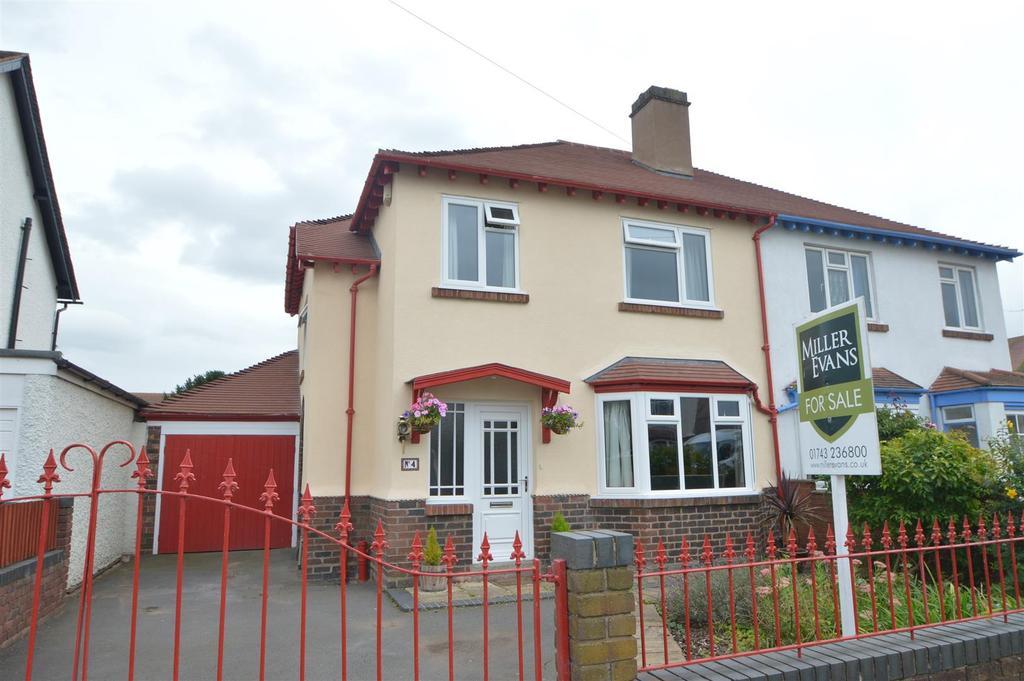 3 Bedrooms Semi Detached House for sale in 4 Monkmoor Avenue, Shrewsbury, SY2 5DZ